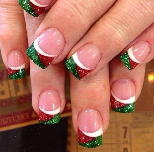χριστουγεννιατικο nail art