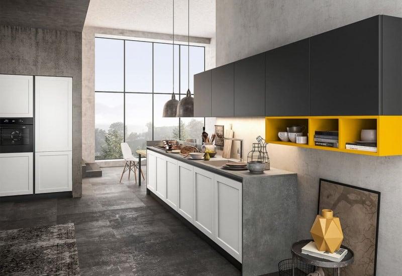 Μοντέρνα ιταλικά έπιπλα κουζίνας της εταιρείας Dreamy Kitchen από την συλλογή Frame.