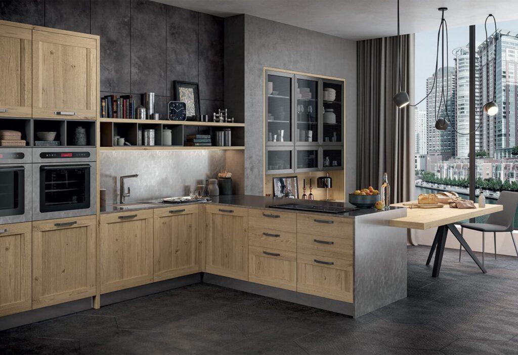 Μοντέρνα ιταλικά έπιπλα κουζίνας της εταιρείας Dreamy Kitchen από την συλλογή Asia.